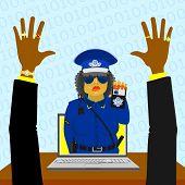 Virtual woman police