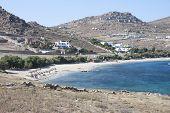 Kalafatis Beach In Mykonos Island,