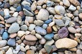 Abstract background with round peeble stones