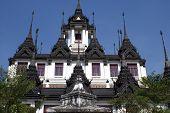 The Famous Roof Of Wat Ratchanadda, Bangkok, Thailand