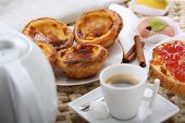picture of pasteis  - traditional portuguese cakes  - JPG