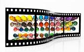 Colored Felt Pens Film Strip