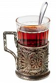Black Tea In Retro Glass