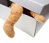 Old Children Toy In Carton Box