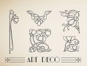 Vector art deco flower pattern ornament