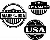 Vintage Style Made in USA Label