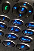 Backlit Cell Phone Keypad