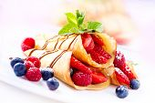 pic of crepes  - Crepes With Berries - JPG