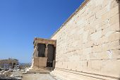 Wall Of Erechtheum Ancient Temple
