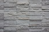 stock photo of shale  - texture wall of gray bricks stone for background - JPG