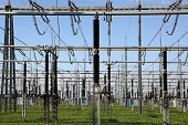 Electrical Substation With Transformers