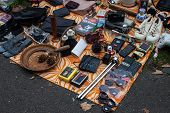 Merchandise exposed at the flea market in Bonn