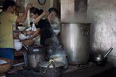 Street restaurant sells famous Pho Bo soup