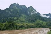 stock photo of ou  - Nam Ou river near Nong Khiaw village northern Laos