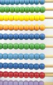 Colorful abacus beads