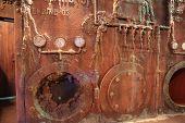 Old rusty sunken ships