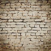 Dark Brick Wall Texture. Grunge Texture.