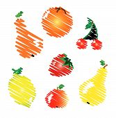 Vector Abstract Fruits