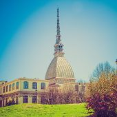 Retro Look Mole Antonelliana Turin
