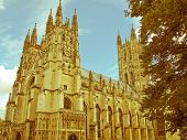 Retro Looking Canterbury Cathedral