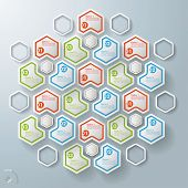Seven Triangel Hexagons With Centre