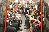 commuters in london's under ground