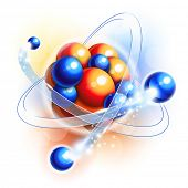 stock photo of neutrons  - Molecule - JPG