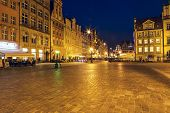 Market Square At Night, Wroclaw