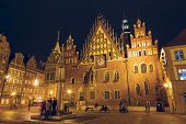 Old Town Hall In Wroclaw, Night View