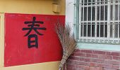 A Chinese Spring Festival couplets for new year
