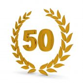 50Th Anniversary Golden Laurel Wreath