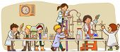 Children Are Studying And Working In The Laboratory