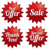 Постер, плакат: Sale best offer special offer thank you tags