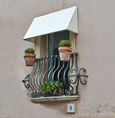 Balcony Of A House In Taormina