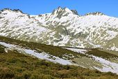 mountain of Gredos at Avila in Castilla Spain