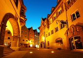 Night street of town of Fussen. Germany