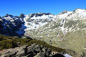 Snow gredos mountains in avila Spain