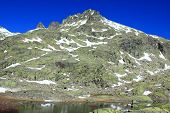 Big lagoon in Gredos`s mountain, Spain