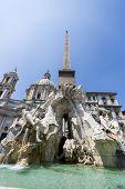 Fontana Dei Quattro Fiumi At Piazza Navona, Rome