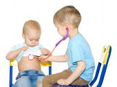 Two Kids Playing Doctor