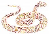 picture of mother law  - Tag or word cloud Mother In Law day related in shape of snake - JPG