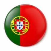 stock photo of bandeiras  - A pin button with the flag of the Portuguese Republic - JPG