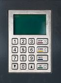 Password screen of a cash machine or point of sale termina