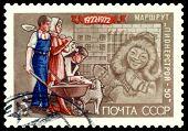 Vintage Postage Stamp.   Chukchi Boi, Pioneer.