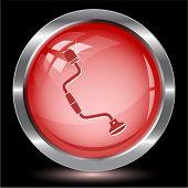 Hand drill. Internet button. Vector illustration.