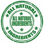 All Natural Ingredients-stamp