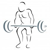 stock photo of weight lifter  - Weight lifter - JPG