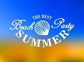 Best beach party poster