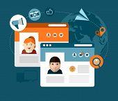 vector social media concept illustration