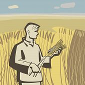 Man In Wheat